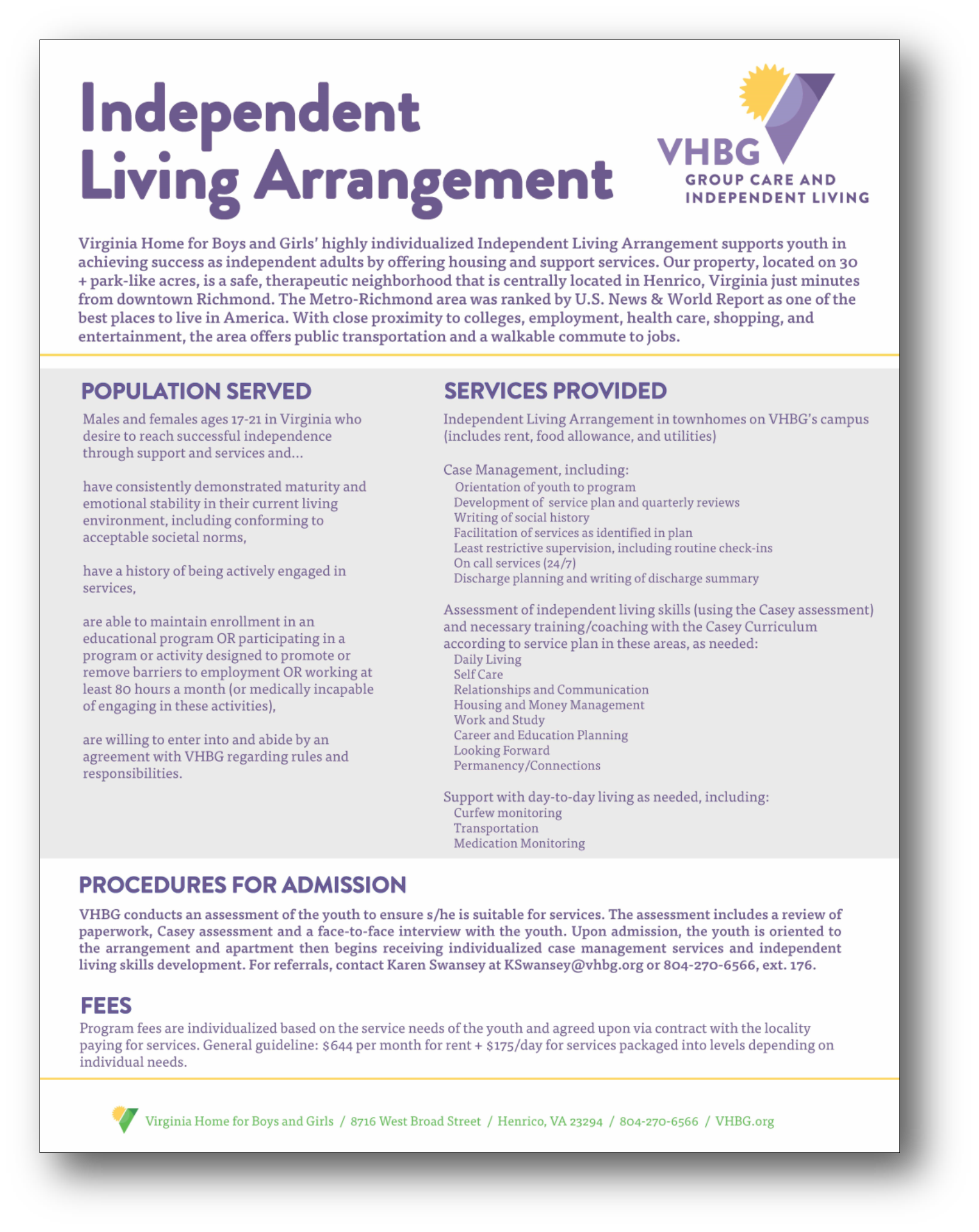 Independent Living Arrangement