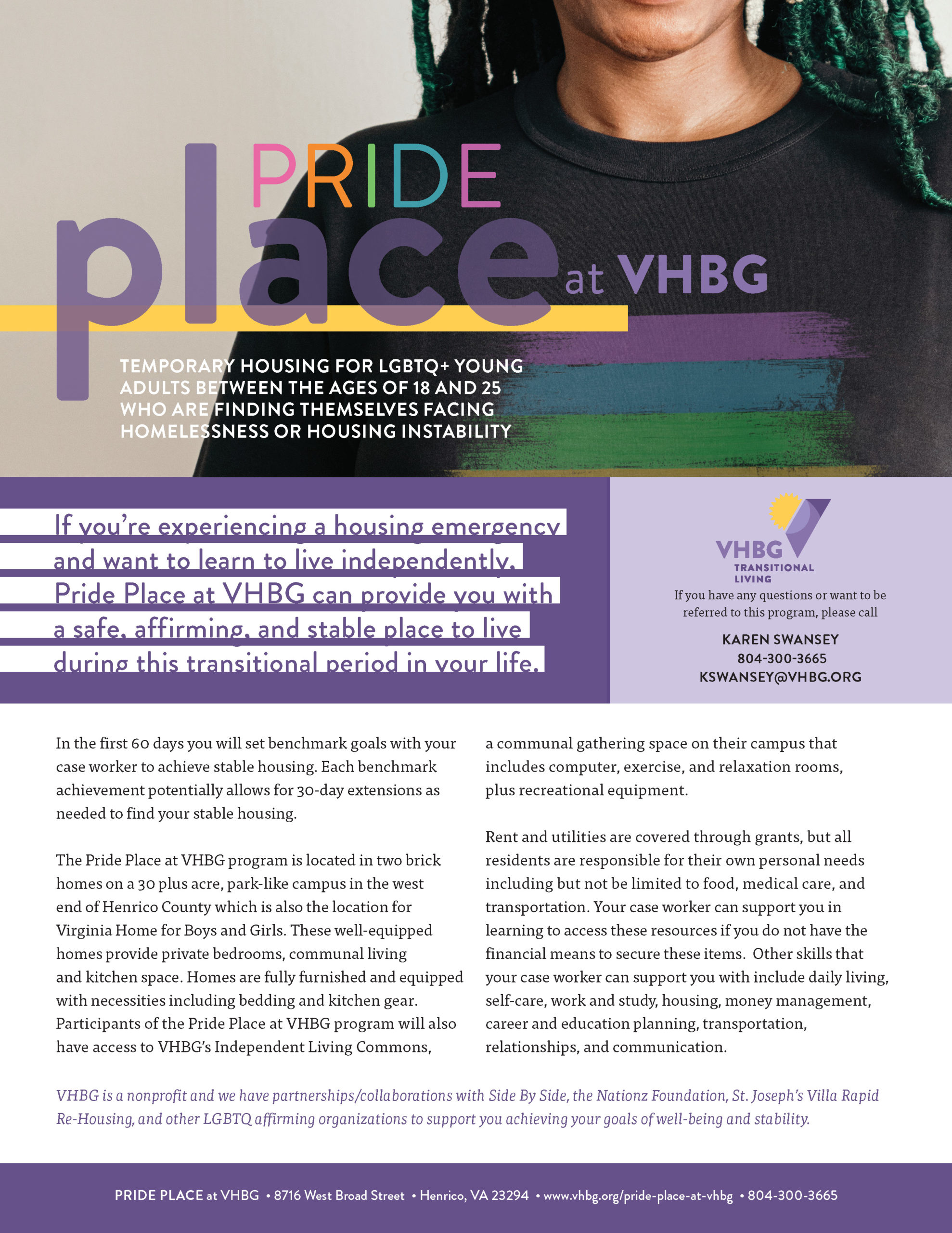 Pride Place at VHBG flyer